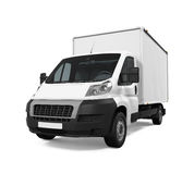 Delivery Van Isolated Royalty Free Stock Photos