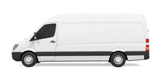 Delivery Van Isolated Stock Images