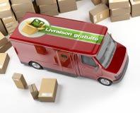 Delivery van, livraison gratuite Stock Photography