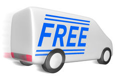 Delivery van service free Royalty Free Stock Image