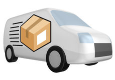 Delivery van shipment Royalty Free Stock Photography