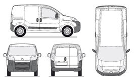 Delivery Van Template - Vector. Delivery Van Template - Layout for presentation - Vector EPS-8 stock illustration