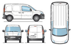 Delivery Van Template - Vector. Delivery Van Template - Layout for presentation - Vector EPS-8 vector illustration