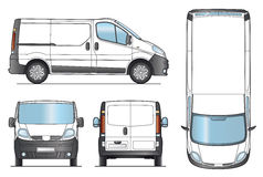 Delivery Van Template - Vector Stock Image