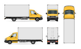 Delivery van template stock illustration