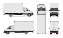 Delivery van template Royalty Free Stock Photos