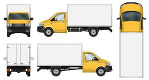 Delivery van template. Stock Photos