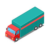 Delivery Van Truck Specialized to Deliver Cargo. Delivery vehicle isolated. Truck specialized to deliver different types of goods. Semi-trailer, box trailers Stock Photography