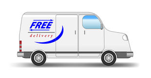 Delivery van Stock Photos