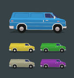 Delivery van vector illustration Royalty Free Stock Photo