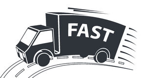 Delivery Van, Vector Illustration. Delivery Van Icon, Vector Illustration, Fast Service Concept Royalty Free Stock Images