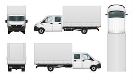 Delivery van vector template on white Stock Photo