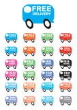 Delivery van vectors. 24 delivery van vectors, free delivery and 24hr delivery Royalty Free Stock Image
