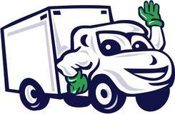 Delivery Van Waving Cartoon Stock Photos