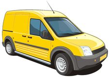 Delivery van Royalty Free Stock Photos