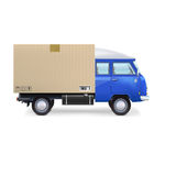 Delivery van  on white Stock Photography