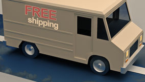 Delivery vans Royalty Free Stock Image