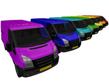 Delivery Vans. Stock Image