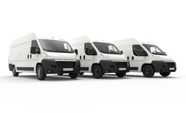 Delivery vans Stock Image