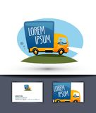 Delivery vector logo design template. truck or Royalty Free Stock Image