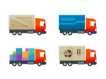 Delivery vector logo design template. truck or Royalty Free Stock Photo