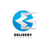 Delivery - vector logo template concept illustration. Origami stylized bird with wings creative sign. Start-up business abstract. Delivery - vector logo Stock Photography