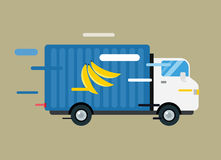 Delivery vector truck. service van silhouette Royalty Free Stock Photography