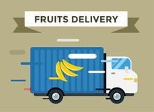 Delivery vector truck. service van silhouette Stock Image
