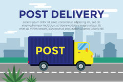 Delivery vector truck. service van silhouette Royalty Free Stock Image