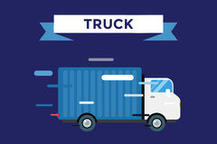 Delivery vector truck. service van silhouette Royalty Free Stock Photo