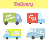 Delivery vehicle icon vector illustration Royalty Free Stock Photography