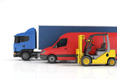 Delivery vehicles. Stock Images