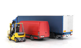 Delivery vehicles. Royalty Free Stock Photo