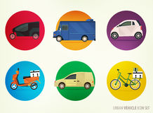 Delivery vehicles Stock Image