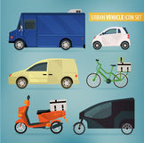 Delivery vehicles Stock Photography
