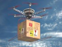 Delivery Via Drone Stock Photo