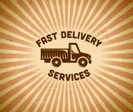 Delivery vintage label Royalty Free Stock Photos