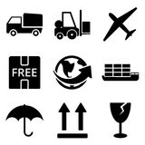 Delivery web and mobile logo icons collection Stock Photo