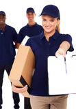 Delivery woman Royalty Free Stock Photos