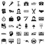 Delivery work icons set, simple style Royalty Free Stock Photos