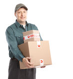 Delivery worker. royalty free stock photo