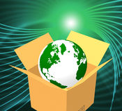 Delivery World Indicates Sending Global And Post Royalty Free Stock Image