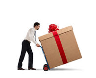 Delivery xmas gifts Stock Photos