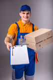 deliveryman fotografia royalty free