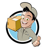 Deliveryman amichevole Fotografie Stock Libere da Diritti