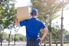 Deliveryman back to you Stock Images