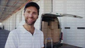 Deliveryman dawać aprobaty zbiory