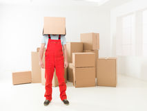 Deliveryman at your service Stock Photo