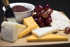 Delizia degli amanti del formaggio Fotografia Stock