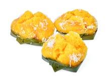 Delizioso dolce di gusto di toddy del dolce tailandese della palma isolato su bianco immagini stock libere da diritti